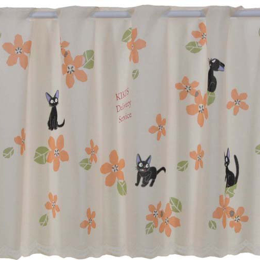 J Fair Studio Ghibli Kikis Delivery Service Cafe Curtains Flowers